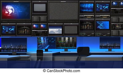News studio 101C3 - This is a 3-d News studio. It contains ...
