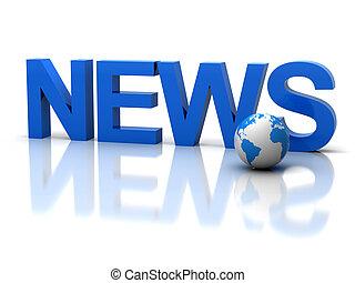 "News - The three-dimensional word ""news"""