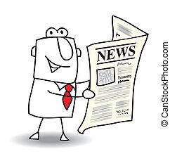 News - This businessman read a newspaper