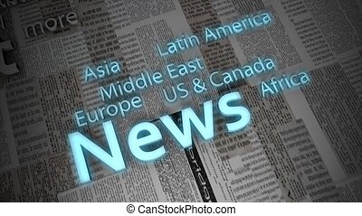 Montage animation, news titles.