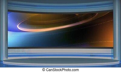 News TV Studio Set 127 - Virtual Green Screen