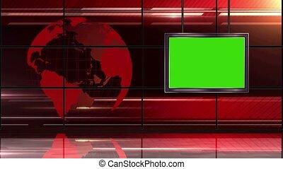 News TV Studio Set -19
