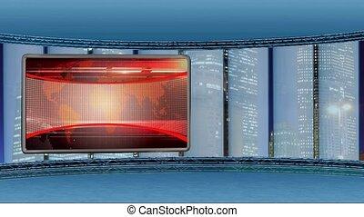 News TV Studio Set 249 - Virtual Green Screen Background Loop
