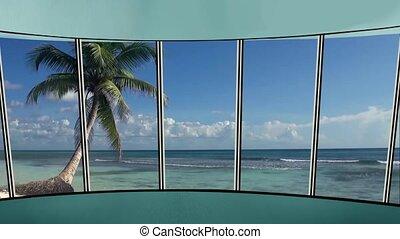 News TV Studio Set 271- Virtual Green Screen Background Loop...