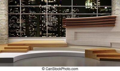 News TV Studio Set 80 - Virtual Green Screen