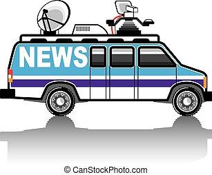 News Van vector