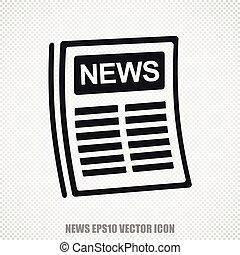 News vector Newspaper icon. Modern flat design.