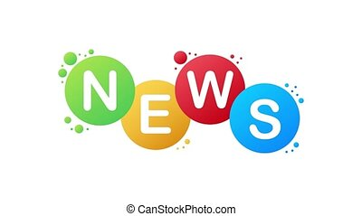News. Word banner. Motion graphics