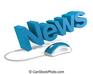 News word with blue mouse