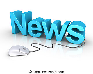 News word with computer mouse