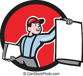 Newsboy Selling Newspaper Circle Cartoon - Illustration of a...