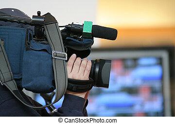newscast - cameraman and