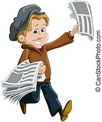 Newsdealer - The child the messenger of newspapers