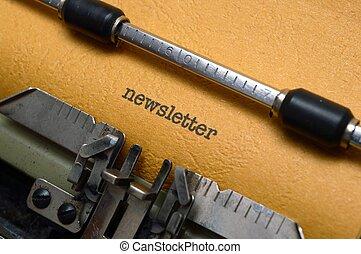 newsletter, タイプライター
