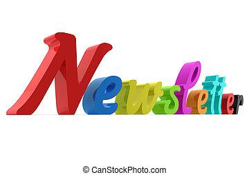 newsletter, 手紙