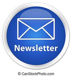 newsletter, azul, botón
