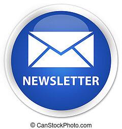 newsletter, błękitny, guzik