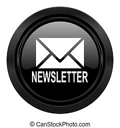 newsletter black icon