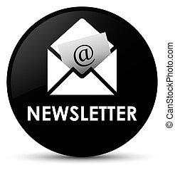 Newsletter black round button