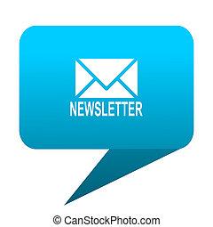 newsletter blue bubble icon