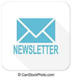 newsletter blue flat icon