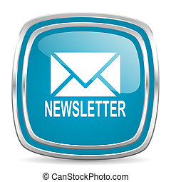 newsletter blue glossy icon
