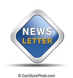 newsletter blue icon