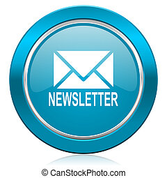 newsletter blue icon