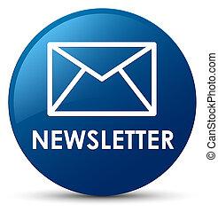 Newsletter blue round button