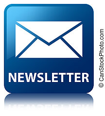 Newsletter blue square button