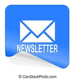 newsletter blue sticker icon