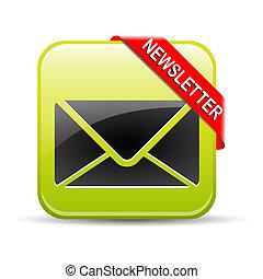 Newsletter Button Green