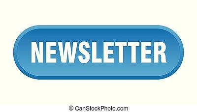 newsletter button. newsletter rounded blue sign. newsletter