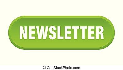 newsletter button. newsletter rounded green sign. newsletter