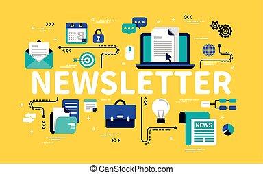 Newsletter concept design