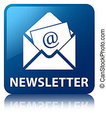 newsletter, cuadrado azul, botón