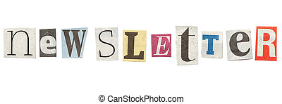 Newsletter, Cutout Newspaper Letters - Newsletter - words...