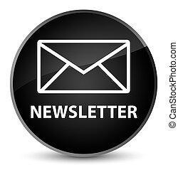 Newsletter elegant black round button