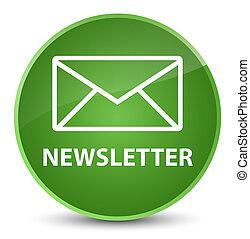 Newsletter elegant soft green round button