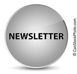 Newsletter elegant white round button