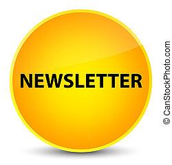 Newsletter elegant yellow round button