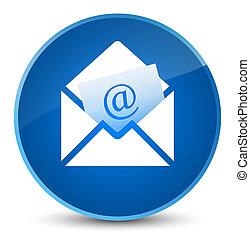 Newsletter email icon elegant blue round button