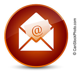 Newsletter email icon elegant brown round button
