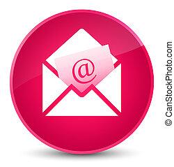 Newsletter email icon elegant pink round button