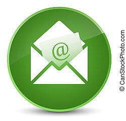 Newsletter email icon elegant soft green round button