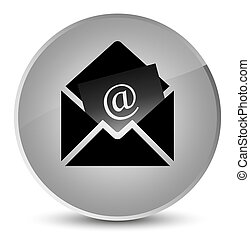 Newsletter email icon elegant white round button