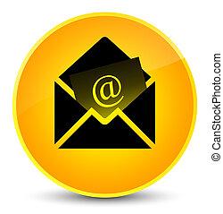 Newsletter email icon elegant yellow round button