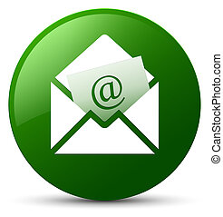 Newsletter email icon green round button