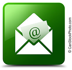 Newsletter email icon green square button