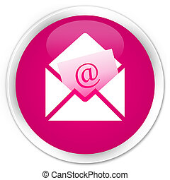 Newsletter email icon premium pink round button